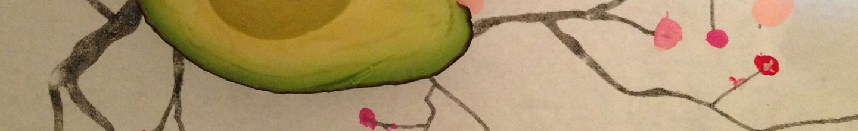 avocado on a branch